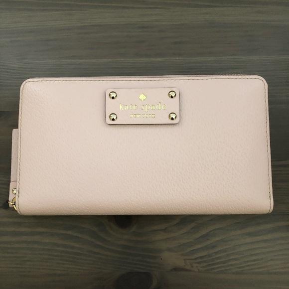 kate spade Handbags - Kate Spade Wellesley Neda Pink Zip Wallet/Clutch